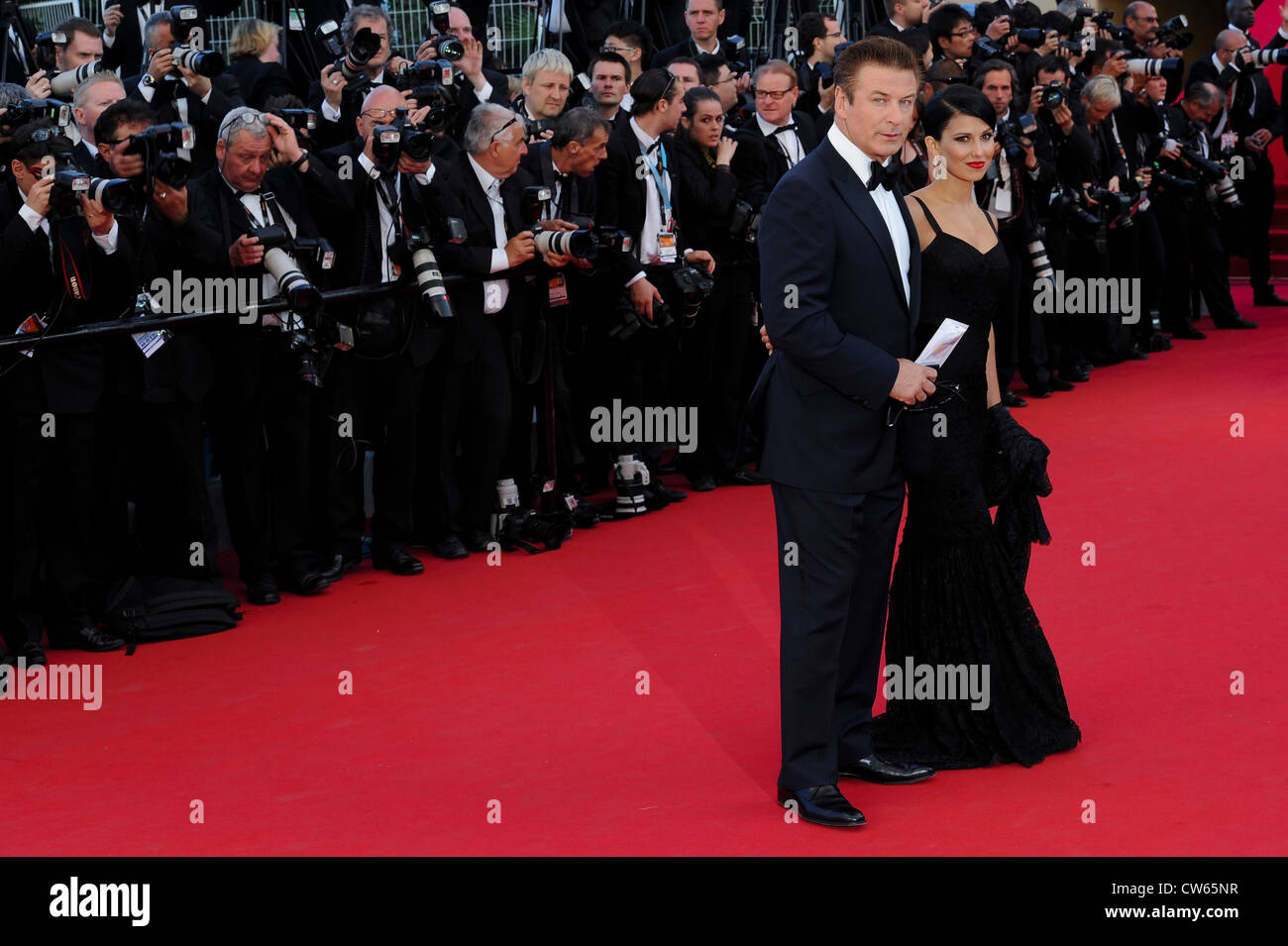 Alec Baldwin and Hilaria Thomas for the opening ceremony and screening of Moonrise Kingdom. Stock Photo