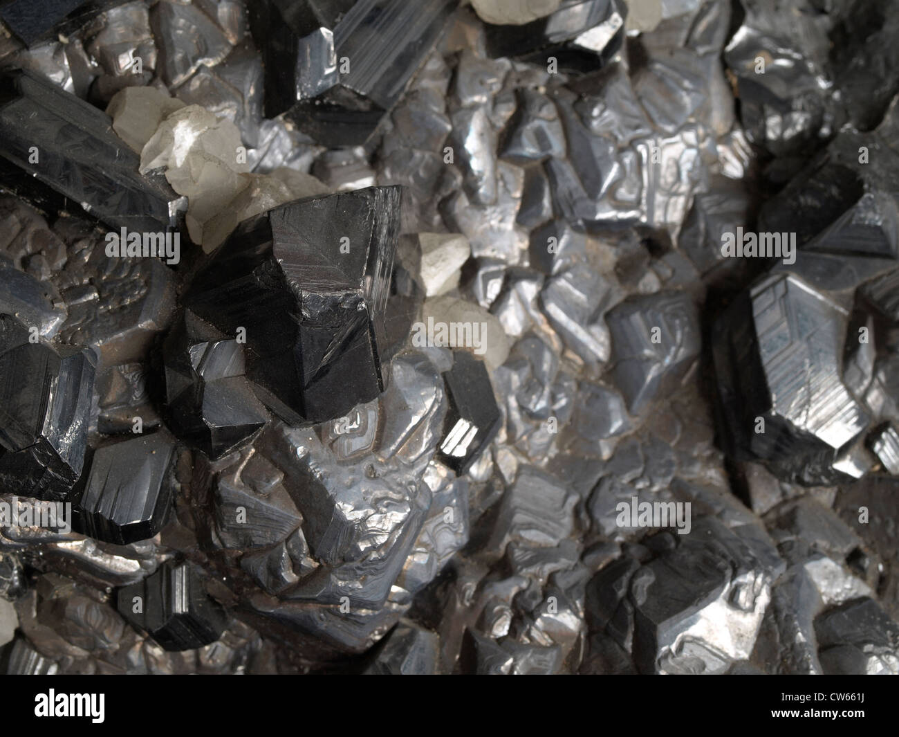 Galena, sphalerite and quartz - Stock Image
