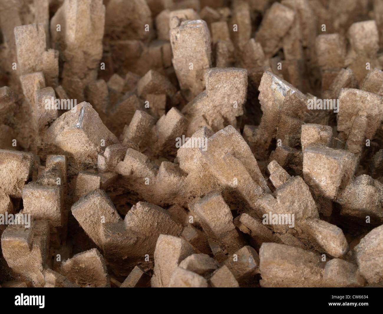 Baryte crystals - Stock Image
