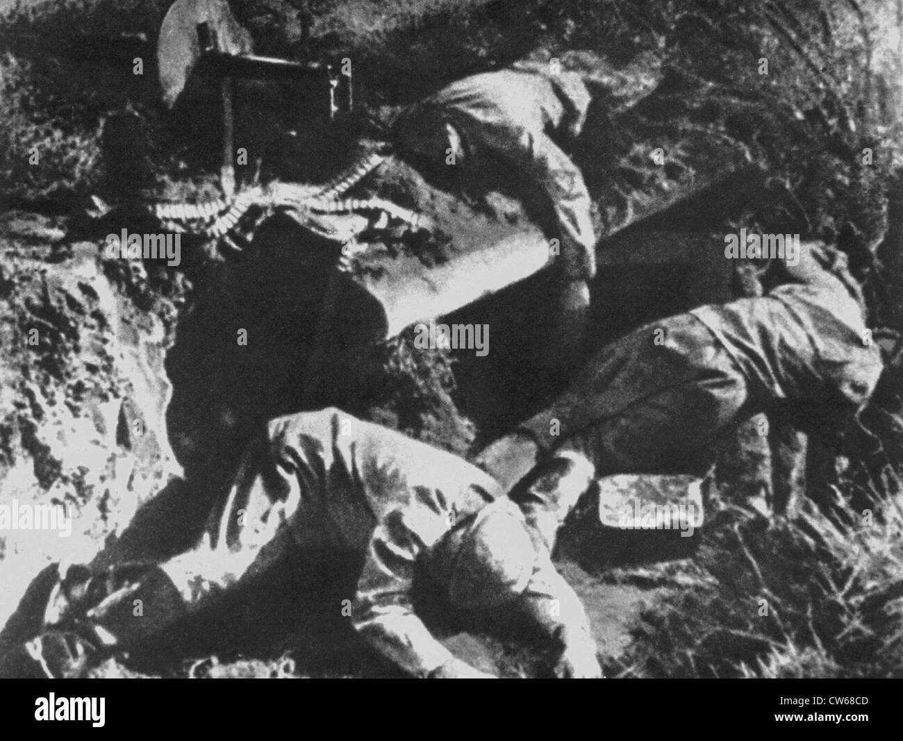 Corpses of Soviet soldiers in the ruins of Brest-Litovsk,1941 - Stock Image