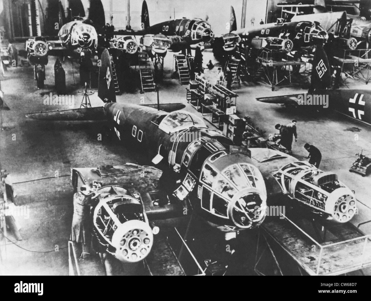 Aeronautics industry, Germany, World War II - Stock Image