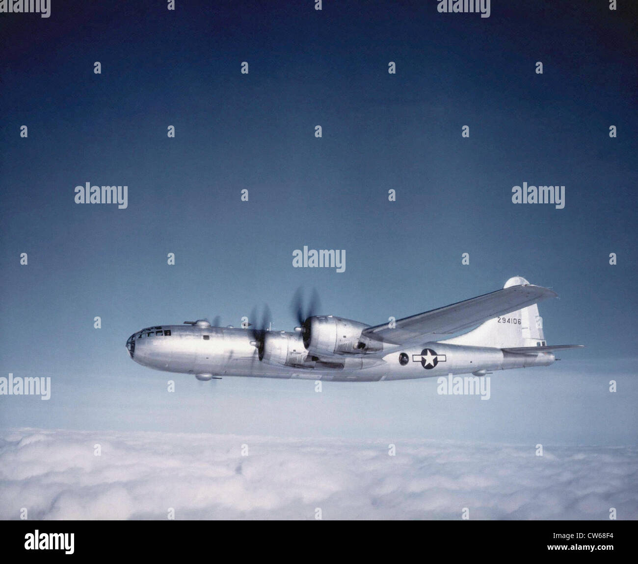 Boeing B-29 Super-Flying Fortress heavy bomber Stock Photo