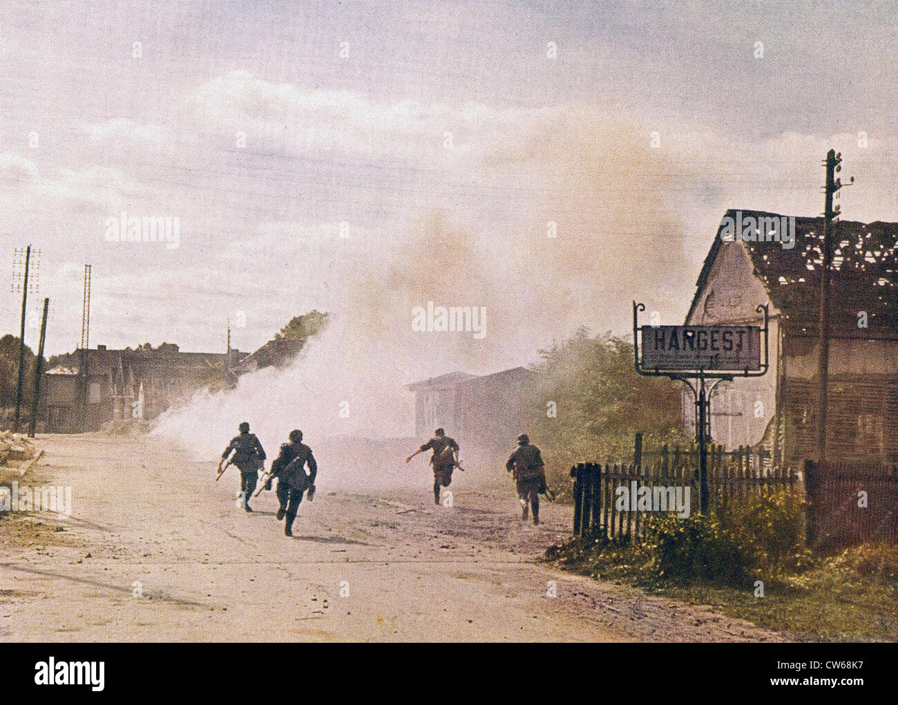German infantry, northern France, May-June 1940. - Stock Image