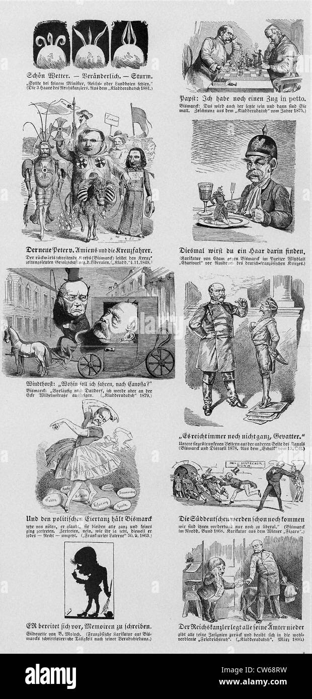 Caricatures of Otto von Bismarck - Stock Image