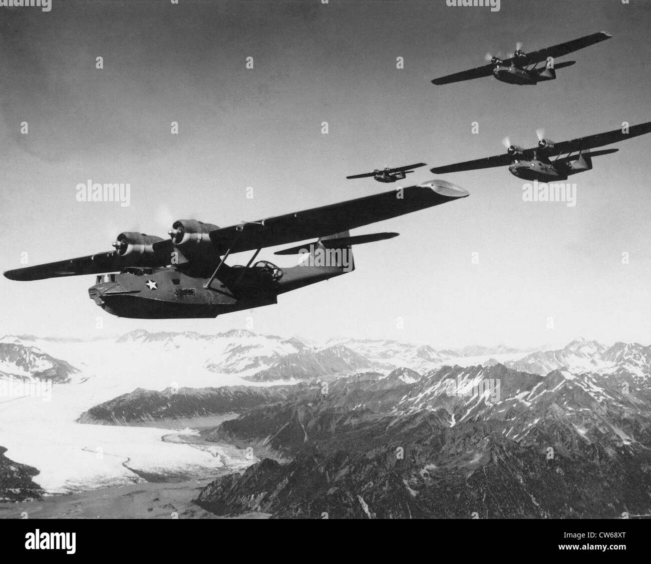 American hydroplane Consolidated PBY Catalina - Stock Image