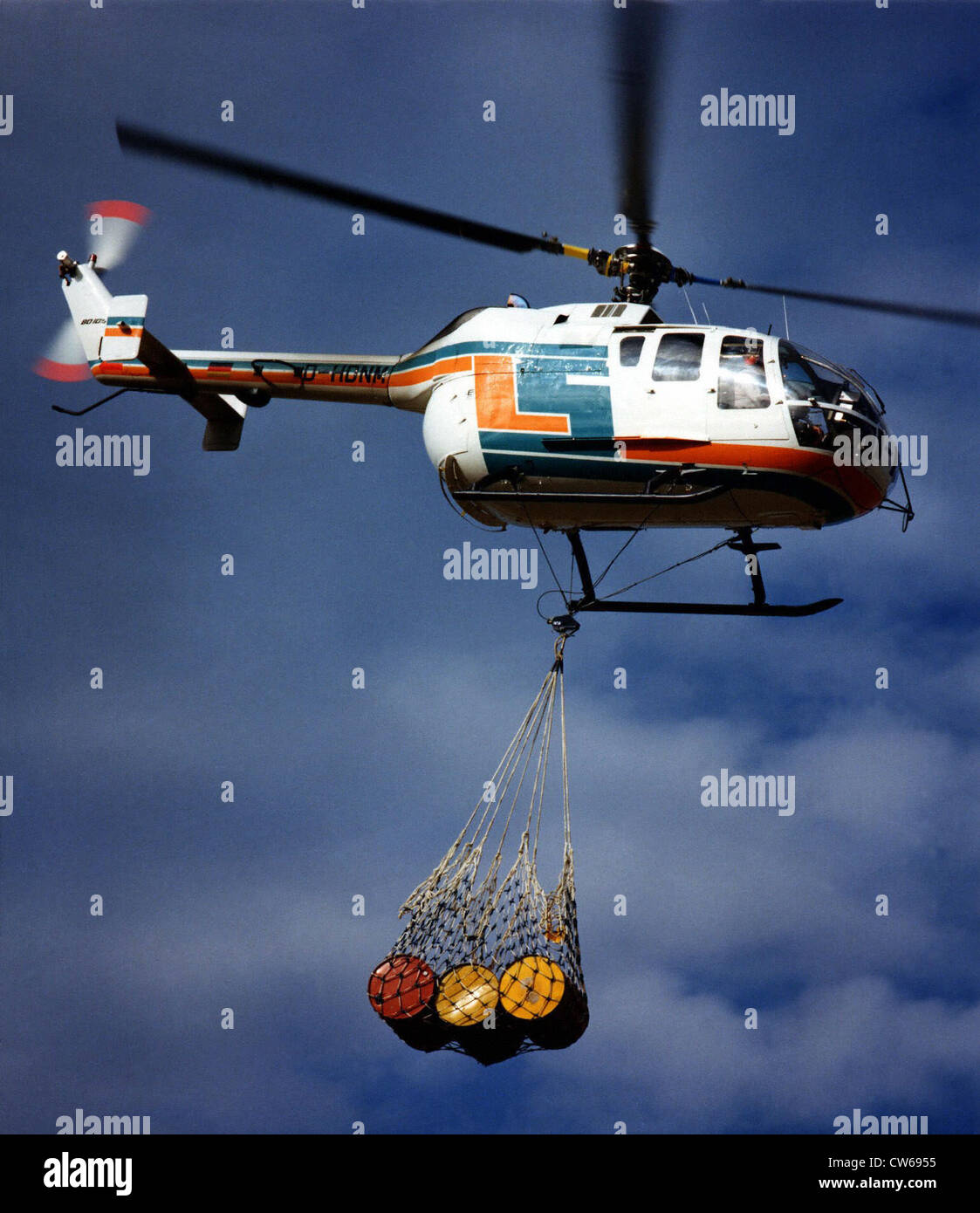 German MBB Bo-105 LS helicopter. - Stock Image