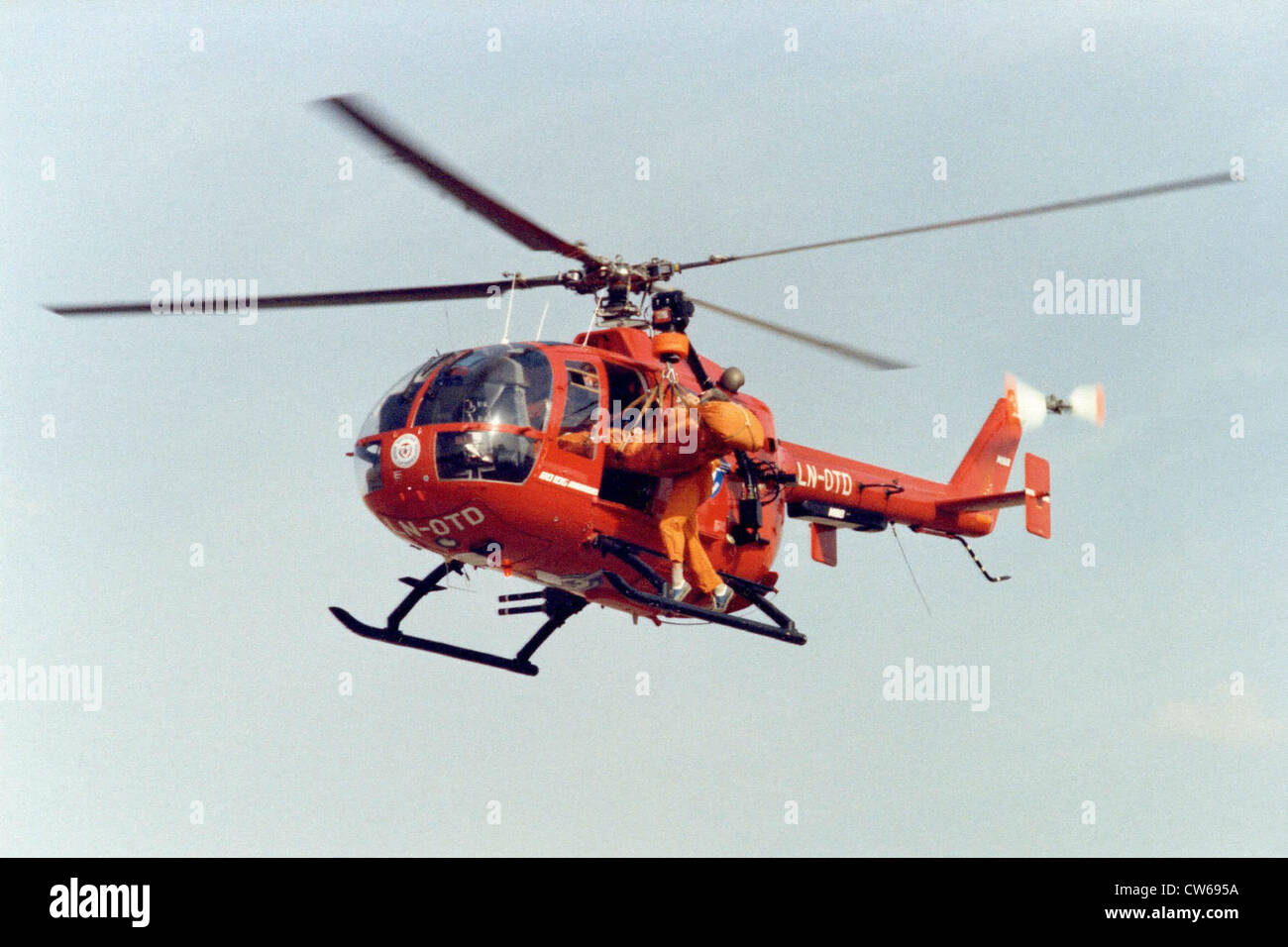 German MBB Bo-105 CBS helicopter. - Stock Image