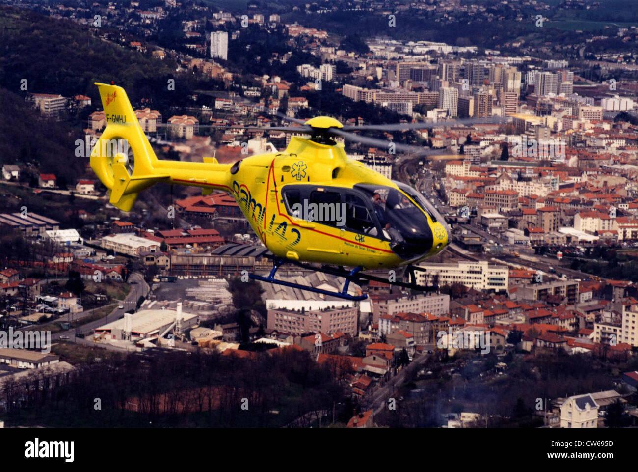 Franco-German Eurocopter EC 135 helicopter - Stock Image