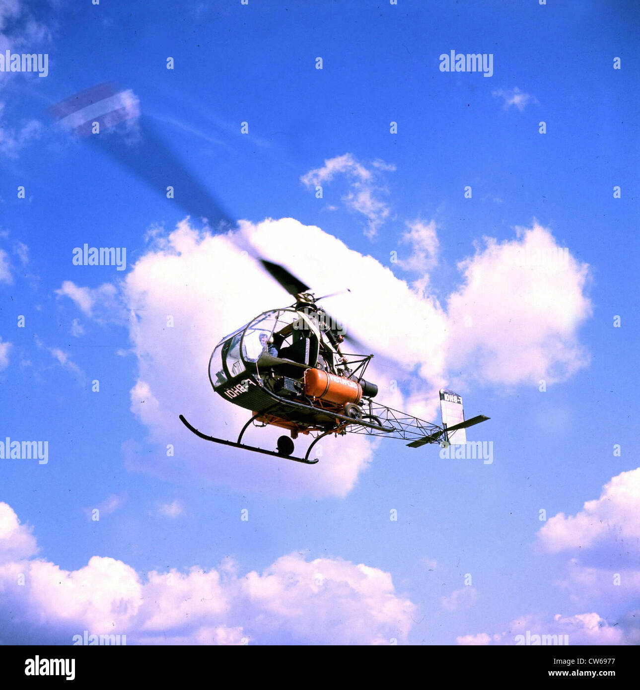 French SD-1221 Djinn light helicopter - Stock Image