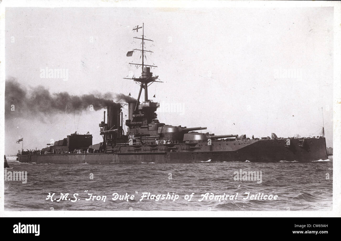 British cruiser 'Iron Duke' - Stock Image