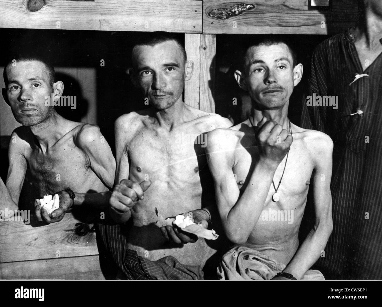 Ebensee Concentration camp liberated ( Austria) 1945. Stock Photo