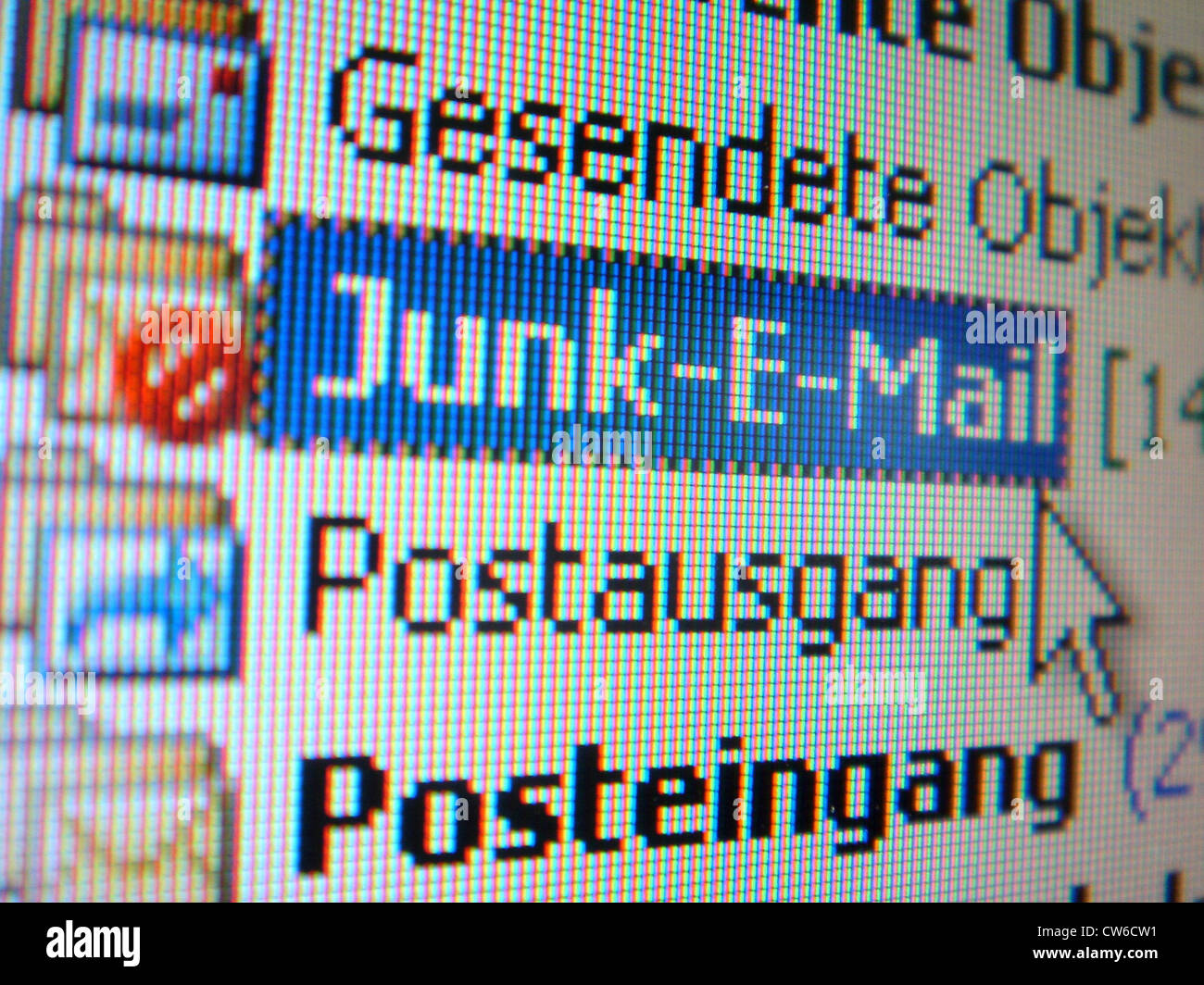 Undesirable junk mail - Stock Image