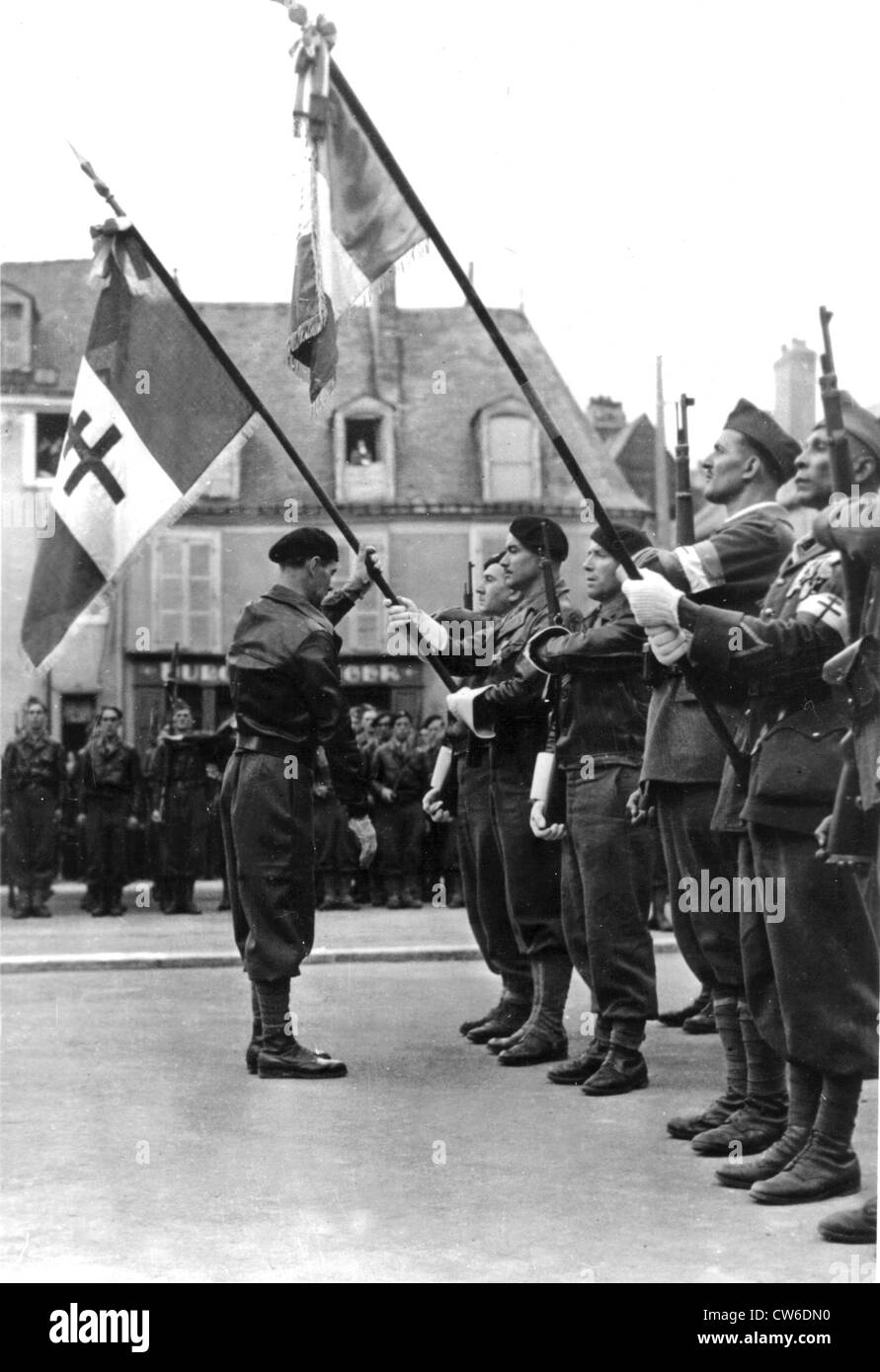 Ceremony in Le Mans August 1944 - Stock Image