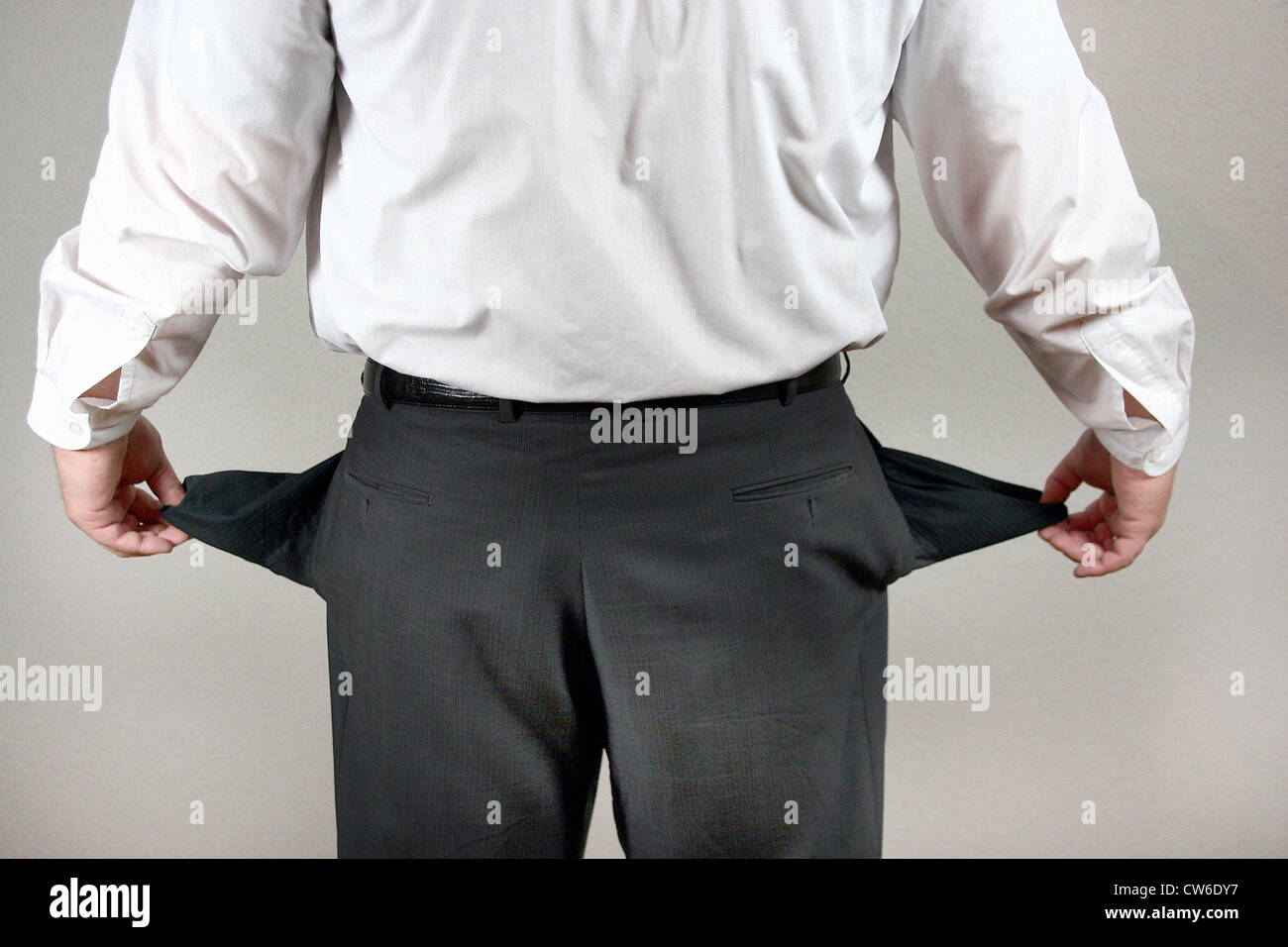 Empty trouser pockets - Stock Image