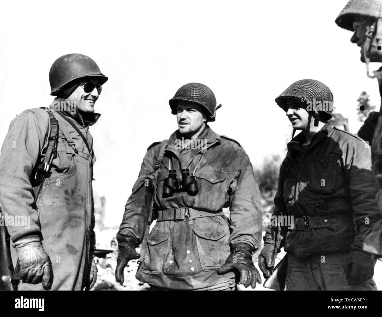 Units of 1st and 3rd U.S. Armies meet in Laroche January 14, 1945 - Stock Image