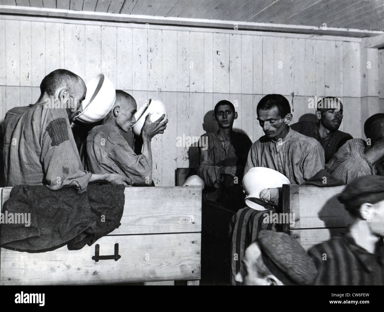 Ebensee concentration camp liberated in Austria (May 1945) Stock Photo