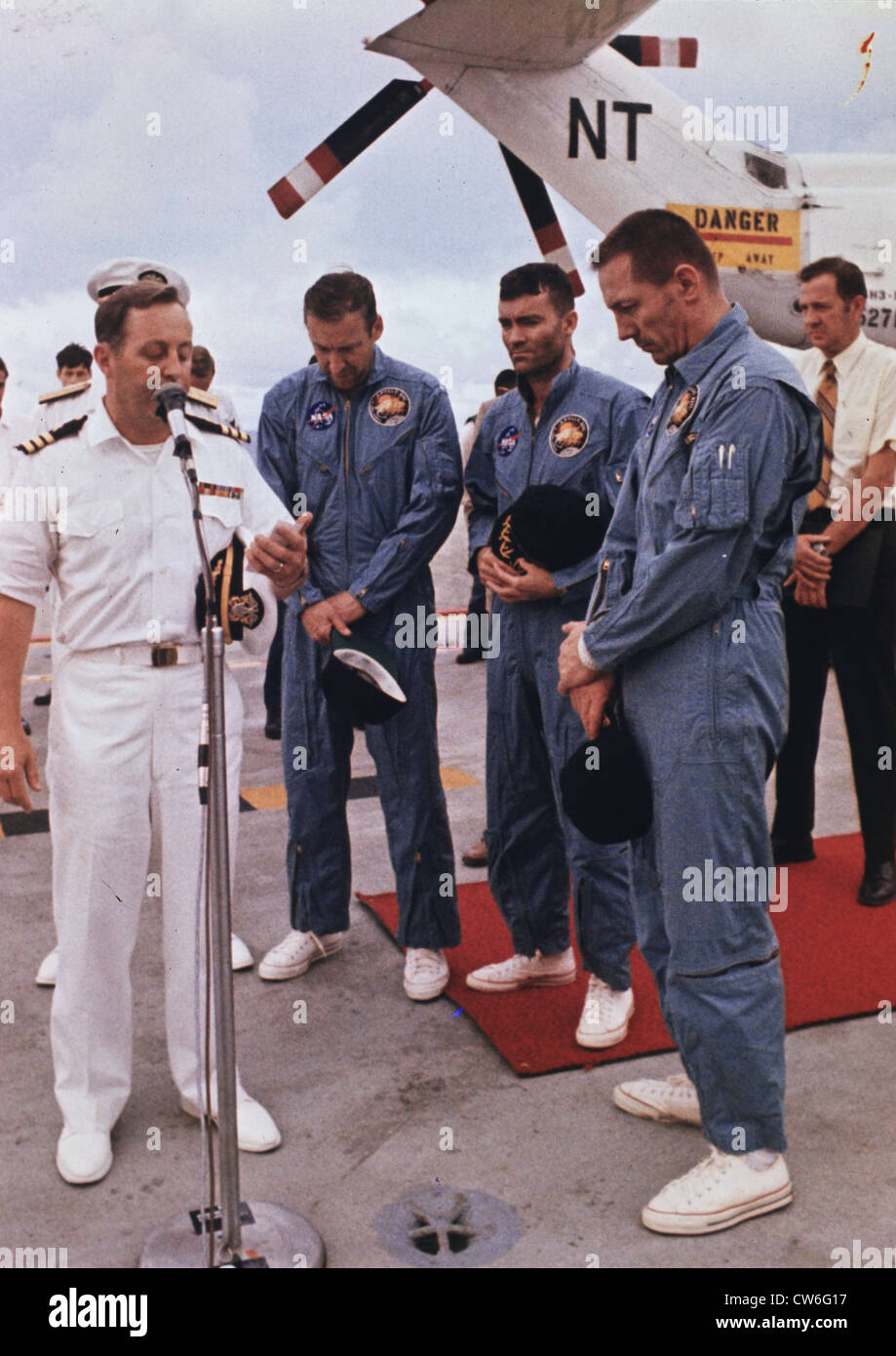 Prayer for the safe return of Apollo 13 mission's astronauts