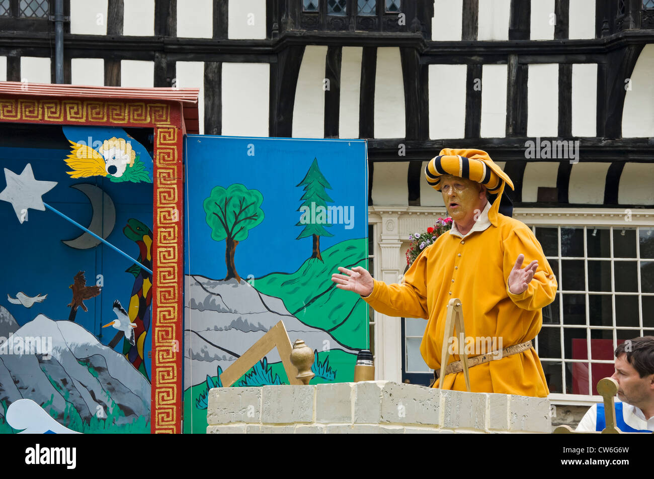 Actor playing God in The Creation to the Fifth Day at the Mystery Plays York North Yorkshire England UK - Stock Image