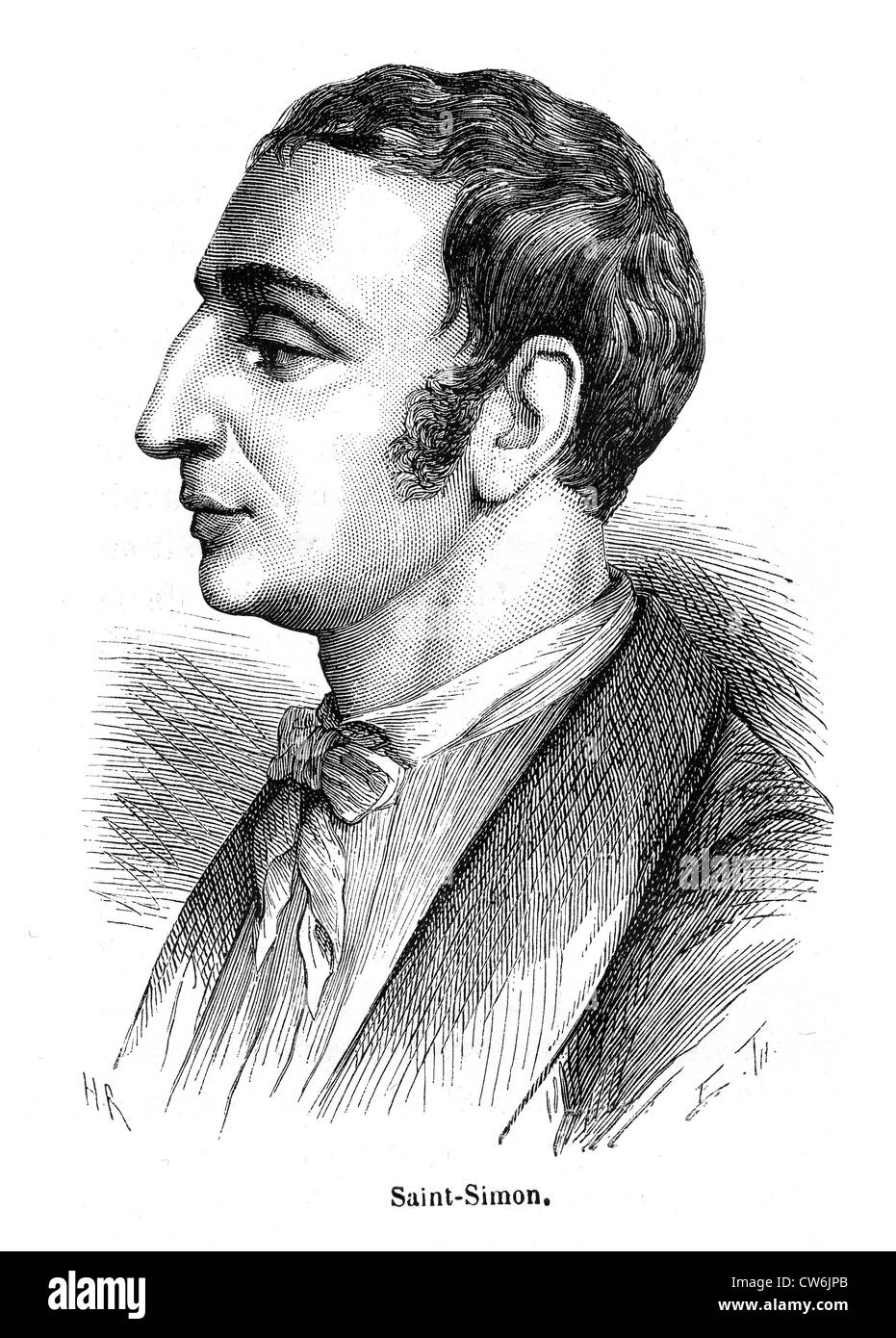 Count of Saint Simon - Stock Image