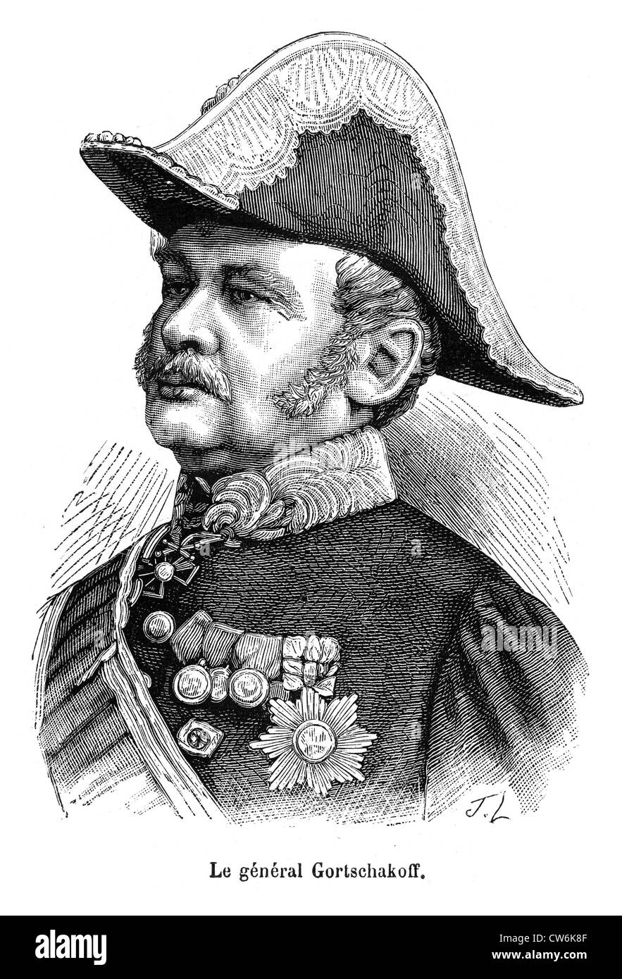 General Gortschakoff Mikhail Dmitrievitch - Stock Image