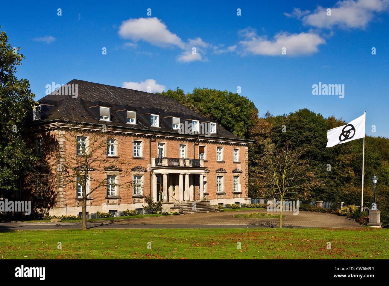 domicile of foundation Alfred Krupp von Bohlen und Halbach on the area of Villa Huegel, Germany, North Rhine-Westphalia, - Stock Image