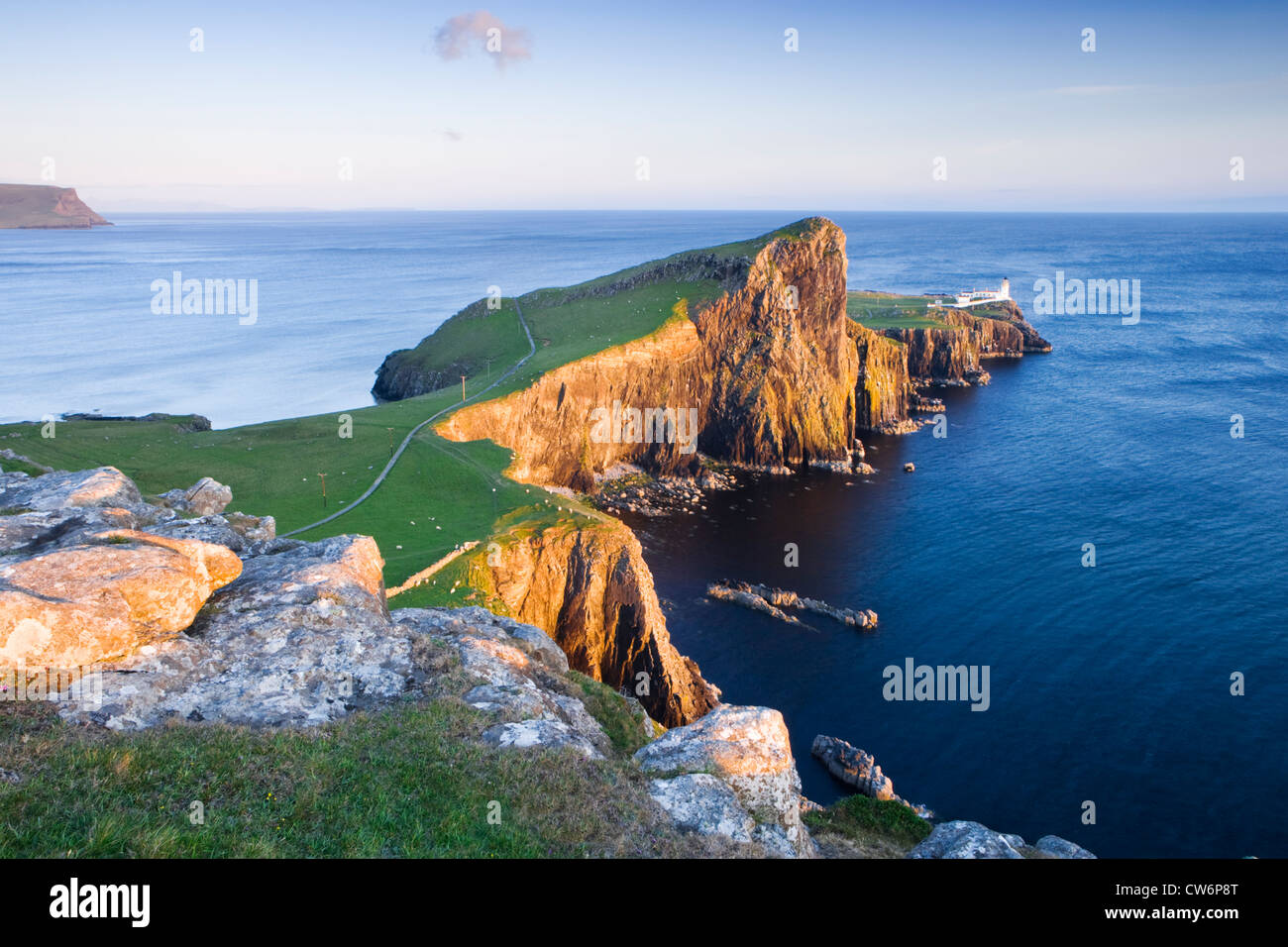 Neist Point lighthouse, Isle of Skye, Highland, Scotland, UK. - Stock Image