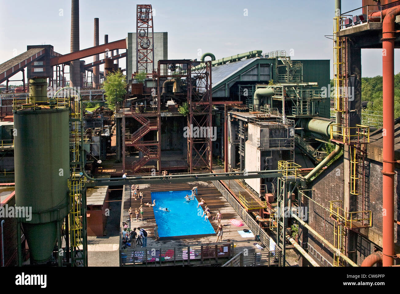 swimming pool at Kokerei Zollverein, Essen-Katernberg, Germany, North Rhine-Westphalia, Ruhr Area, Essen - Stock Image