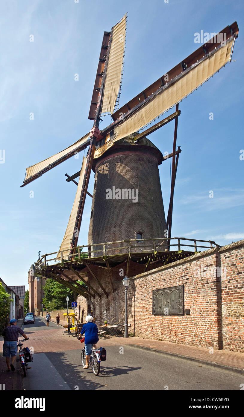 Kriemhild-Muehle, Kriemhild mill, Germany, North Rhine-Westphalia, Ruhr Area, Xanten - Stock Image