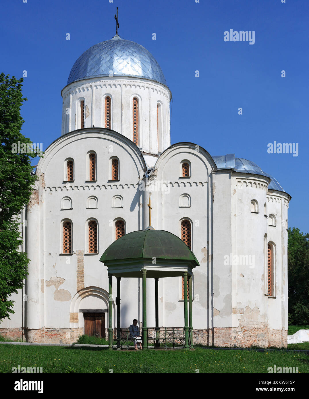 Cathedral of St. Boris and St. Gleb (1123), Ukraine, Chernigov - Stock Image