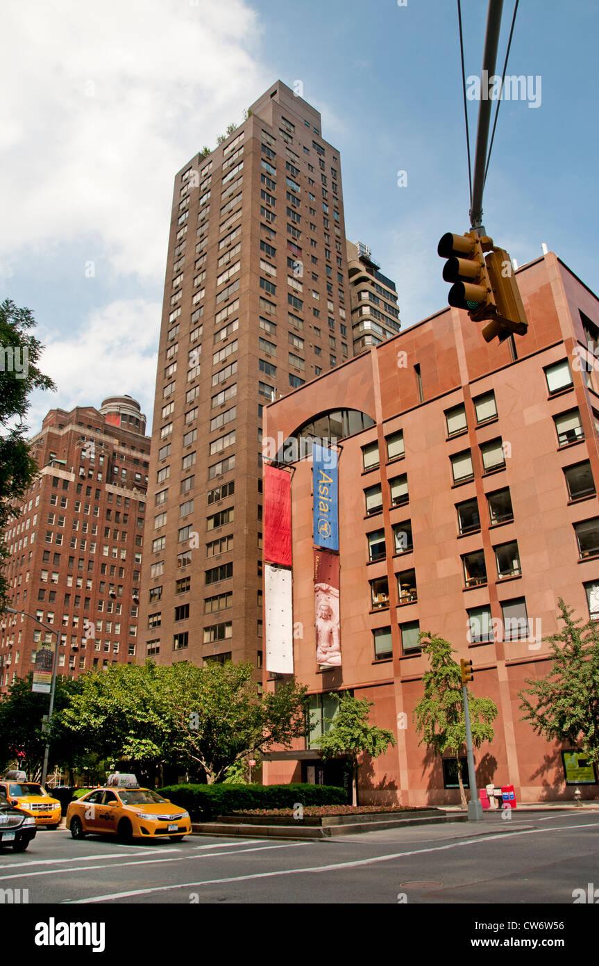 Park  Avenue Asia Society Upper East Side New York City Manhattan - Stock Image