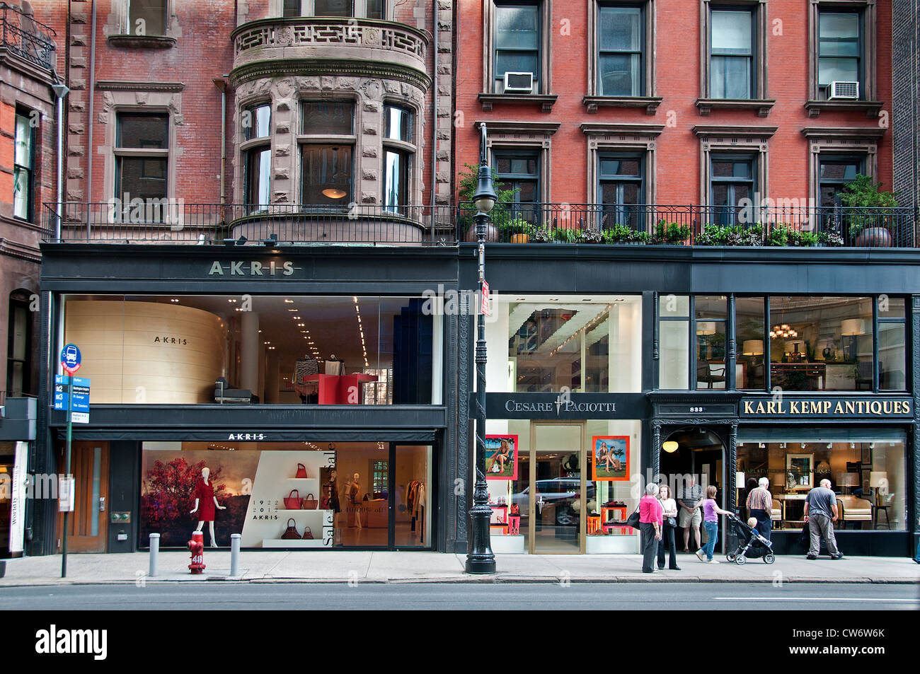 Akris Cesare Paciotti Carl Kemp Antiques  Madison Avenue Upper East Side New York City Manhattan - Stock Image