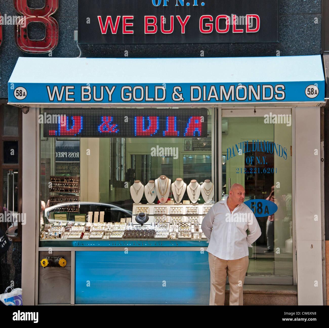 Diamond  District 47 th Street New York City Manhattan Orthodox Jews - Stock Image