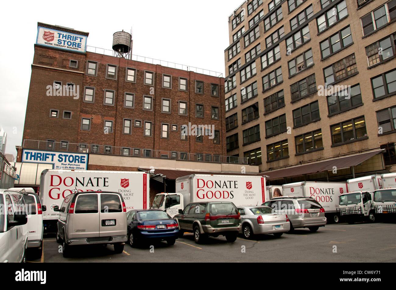 Salvation Army Thrift Store Donate Goods New York City Manhattan - Stock Image