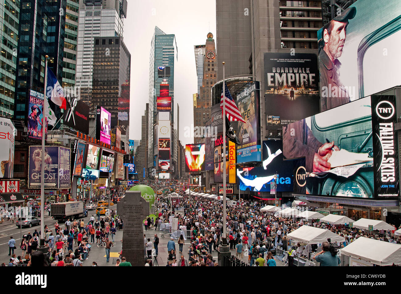 Times Square Broadway New York City Theater Musical - Stock Image