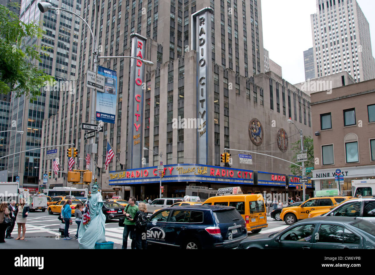 Radio City Music Hall entertainment  Rockefeller Center  New York York City Manhattan - Stock Image