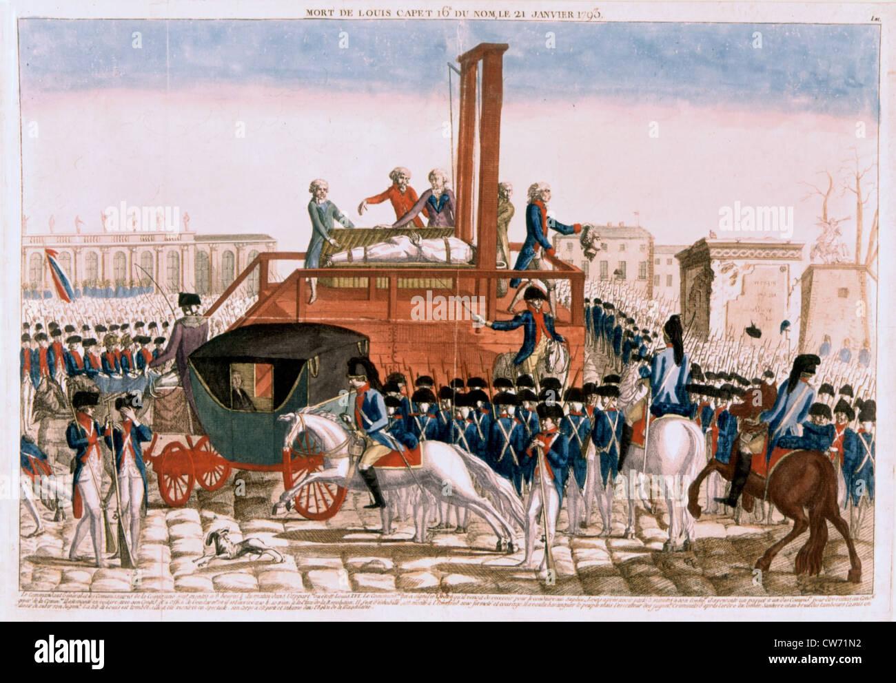 Execution Of Louis Xvi Stock Photos & Execution Of Louis Xvi Stock ...