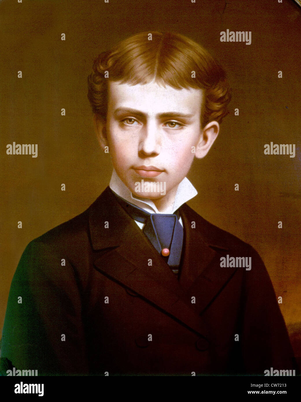 Archduke Rudolph of Habsburg as an adolescent - Stock Image
