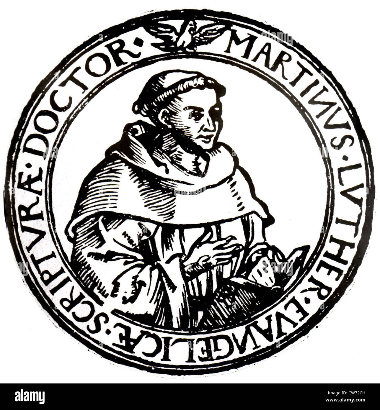 Martin Luther (1483-1546), German religious reformer - Stock Image