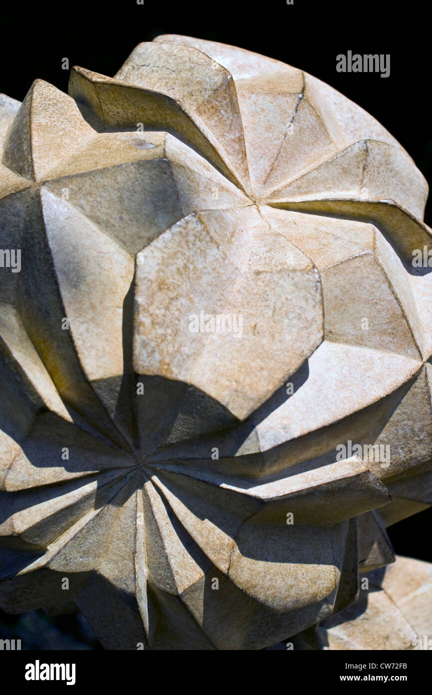 Crystalline Tower (bronze, 2010) by Halima Cassell BA MA ARBS - Stock Image