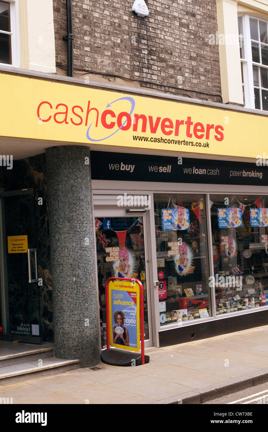 cash converters chain of pawnbrokers secondhand goods second hand retailer shop shops cash for gold highstreet high - Stock Image