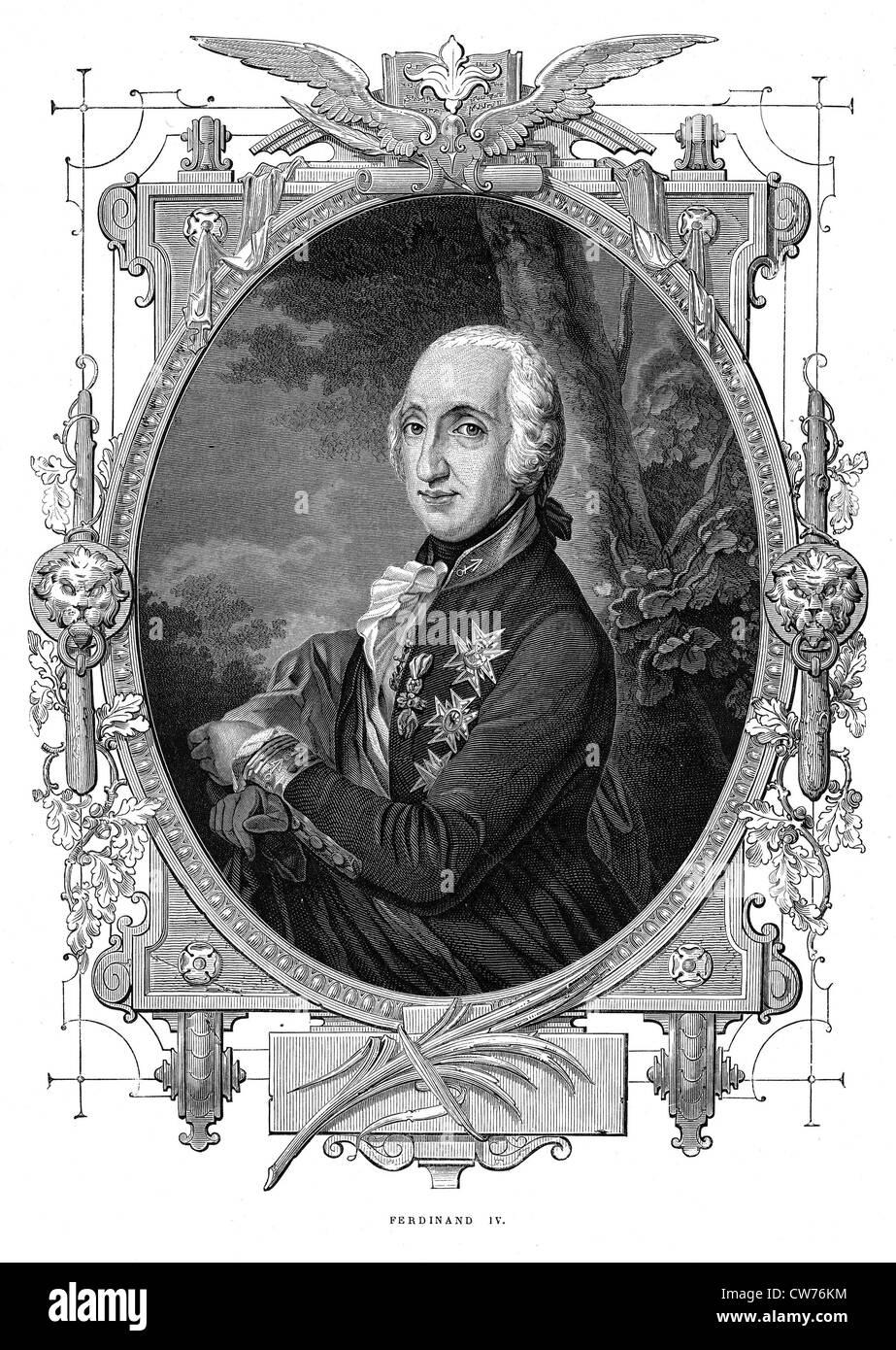 Ferdinand IV - Stock Image