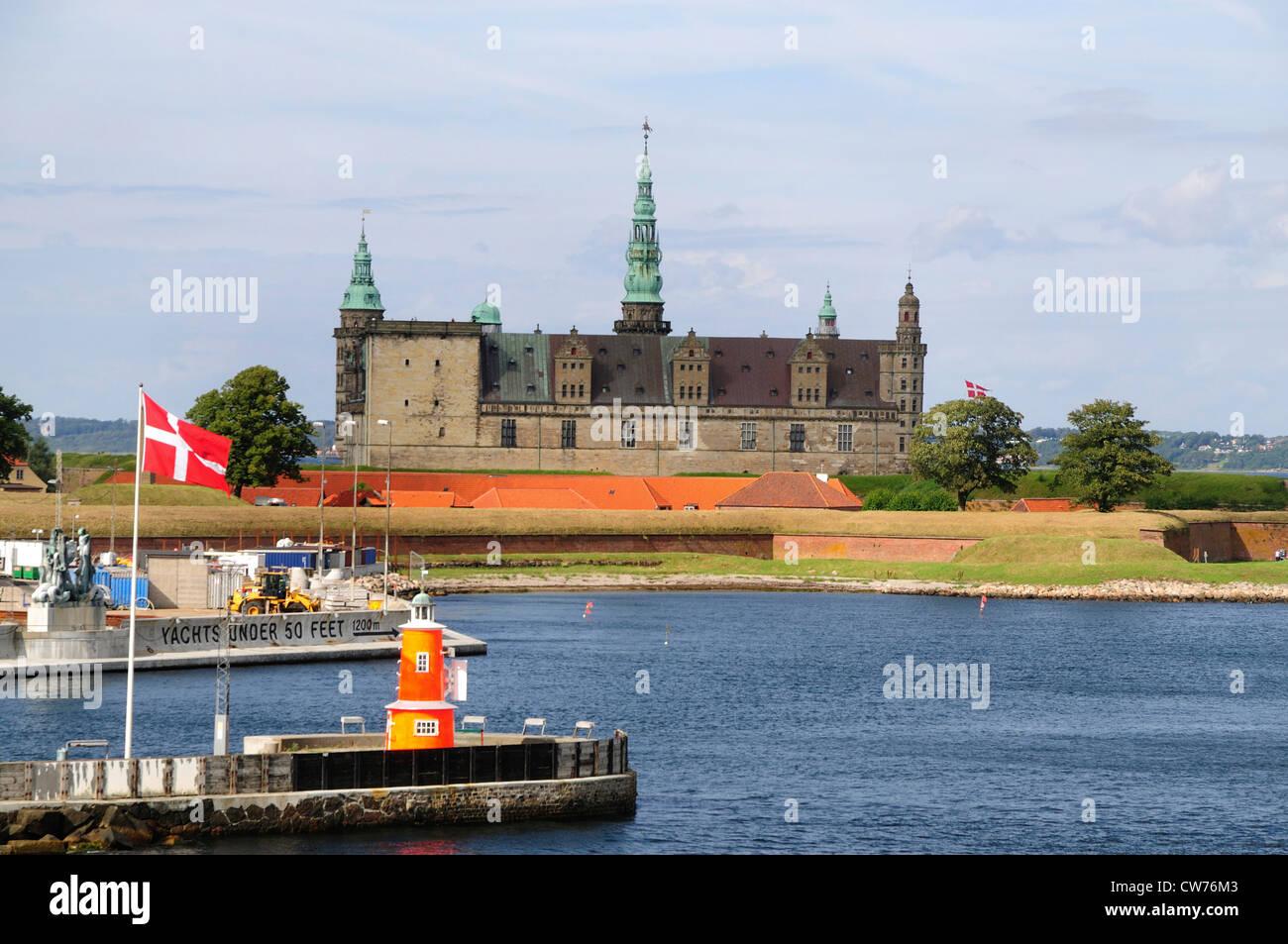 Kronborg Castle, Denmark, Helsingoer - Stock Image
