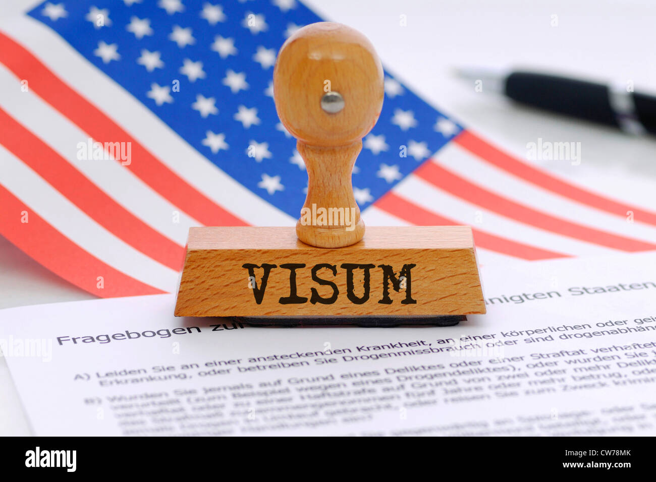 picture symbolising strict control for entering the USA - Stock Image