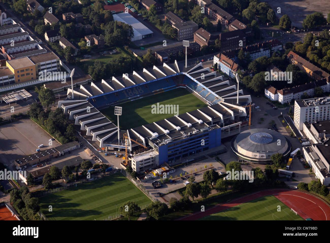 Rewirpower Stadion of VFL Bochum and round sport hall, Germany, North Rhine-Westphalia, Ruhr Area, Bochum - Stock Image