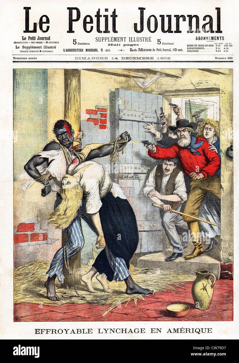 Terrible lynching in America - Stock Image