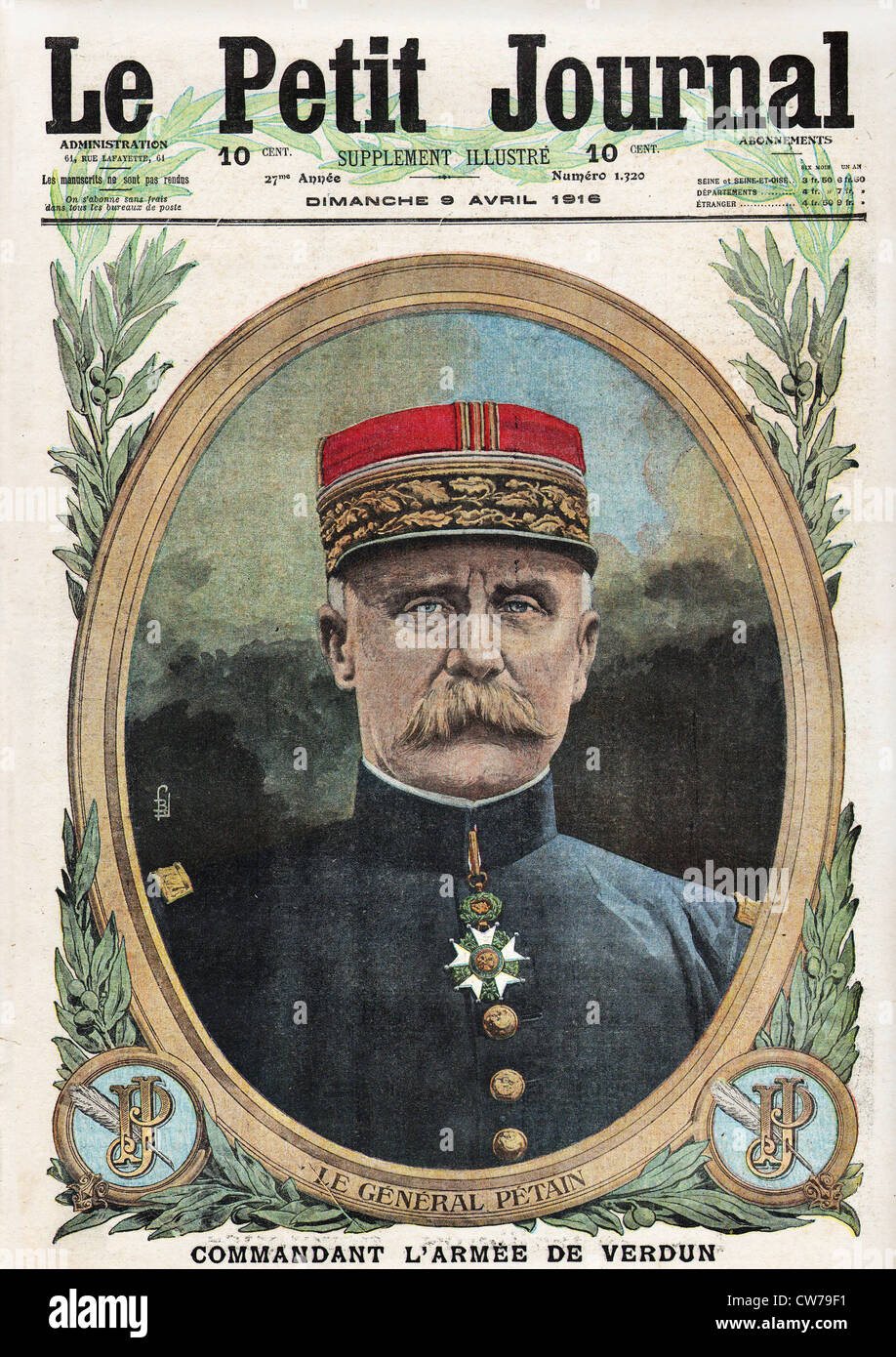 General Petain - Stock Image