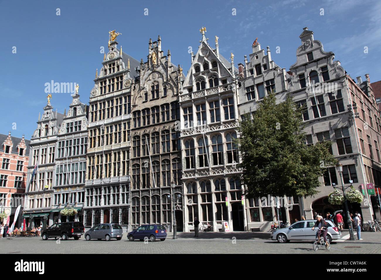 Grote Markt in Antwerpen, Belgium, Flanders, Antwerp Stock Photo