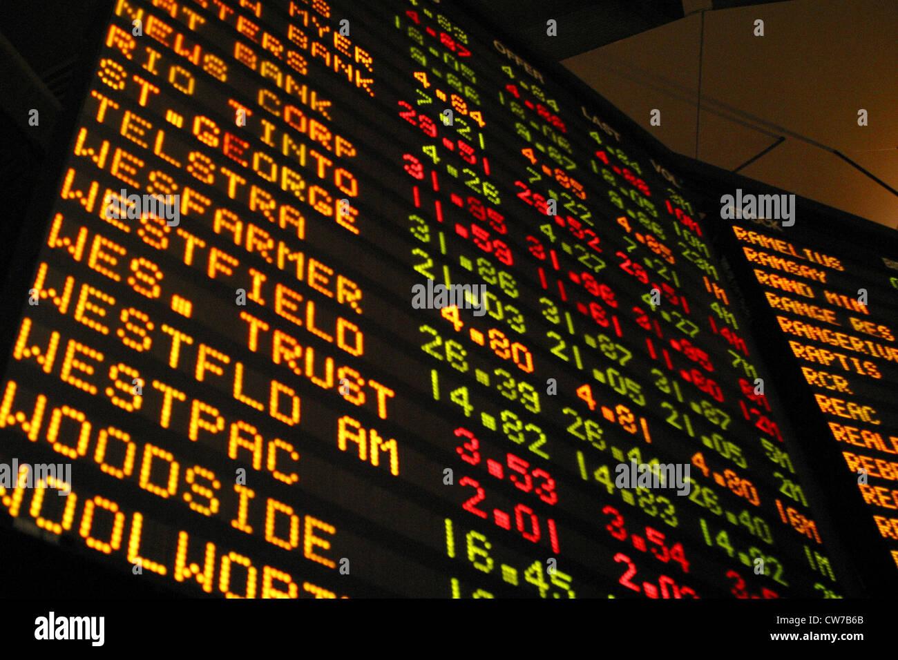 chart at stock market - Stock Image