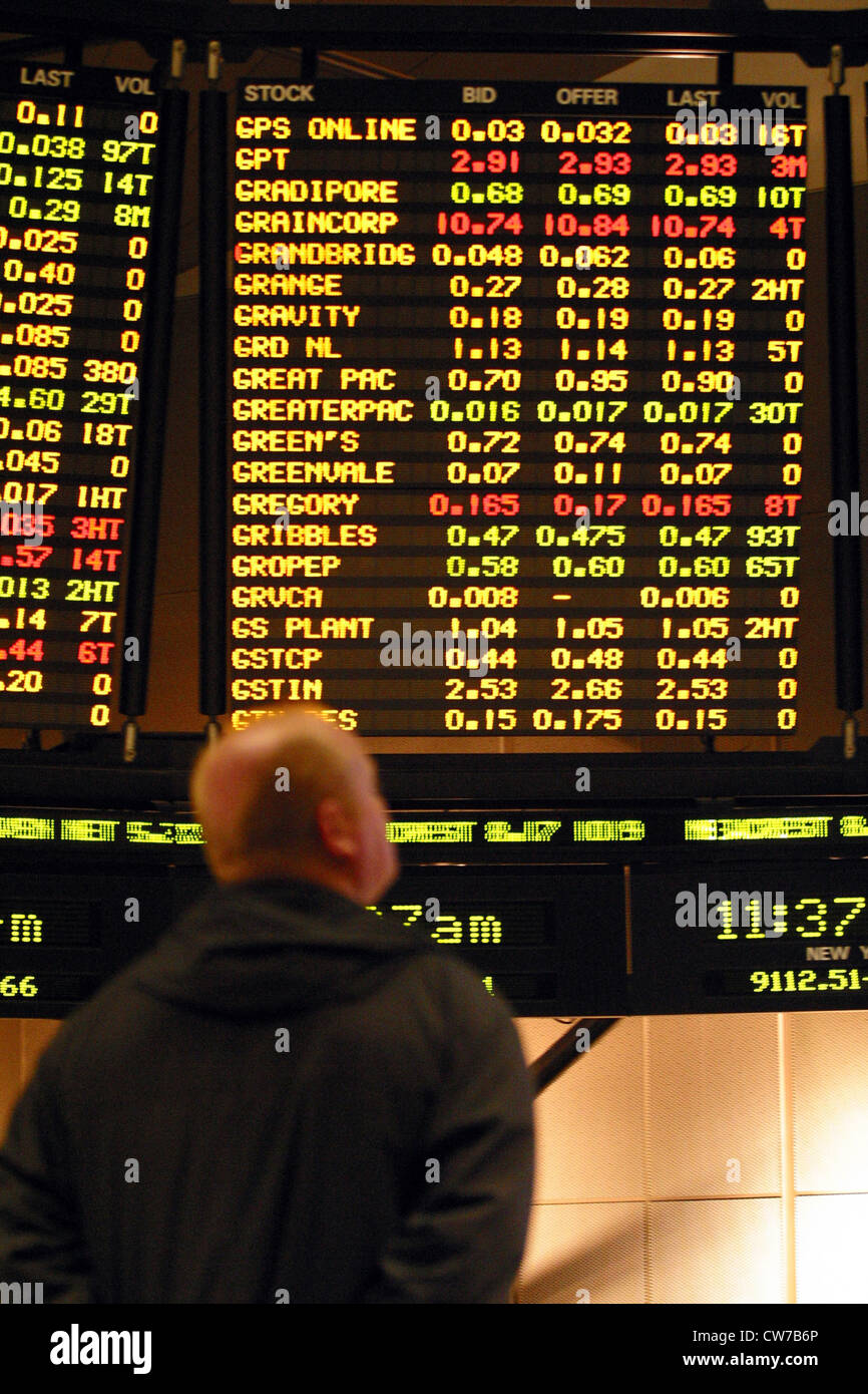 man at stock market - Stock Image
