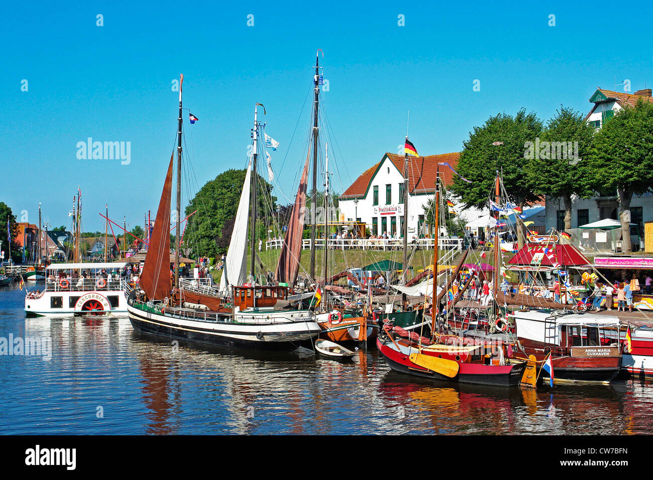 Carolinensiel Harbour - Stock Image